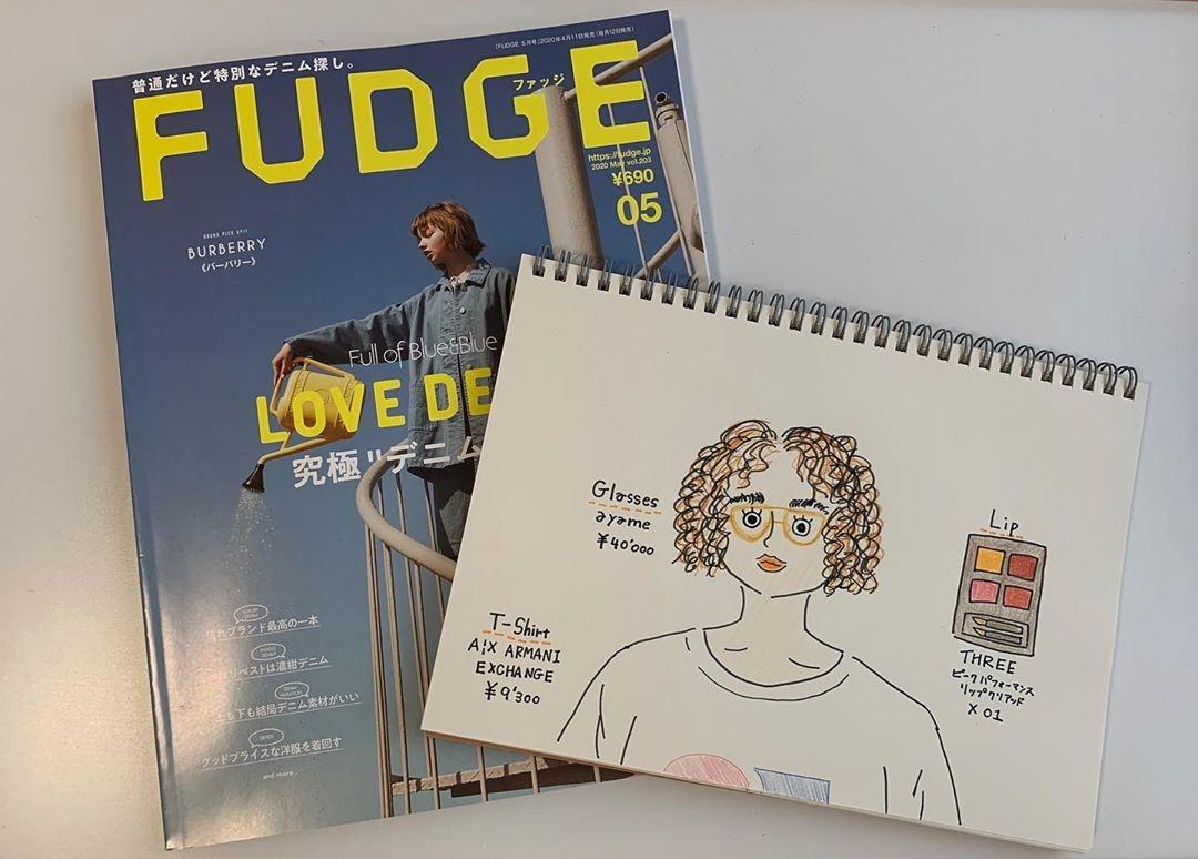 雑誌をイメージして絵を描く