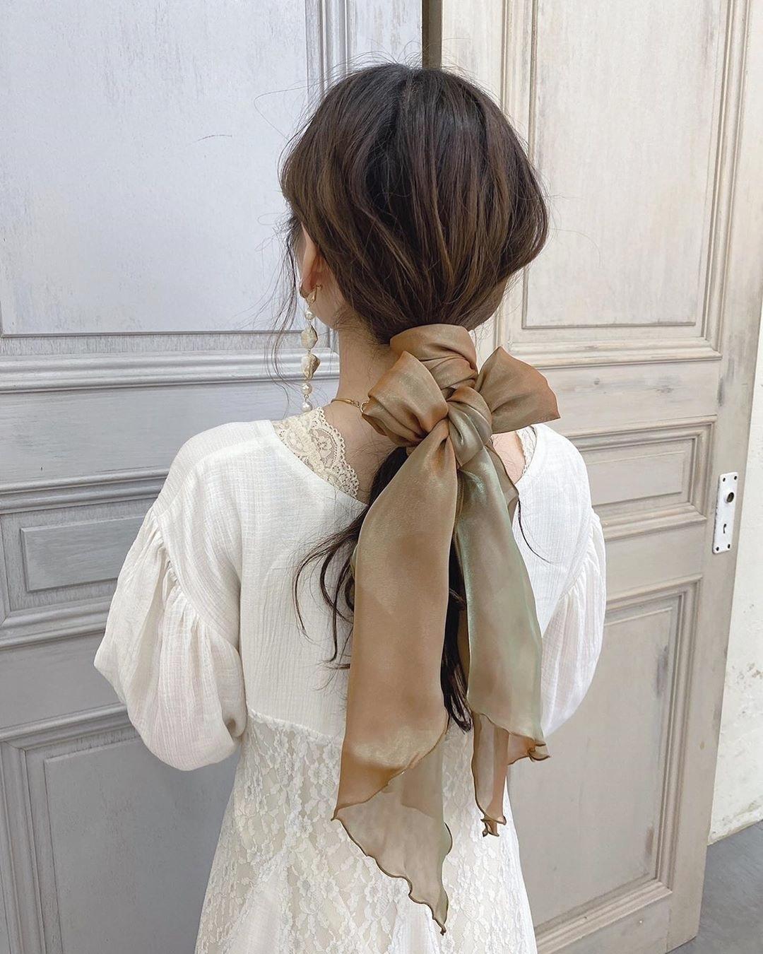 スカーフアレンジ