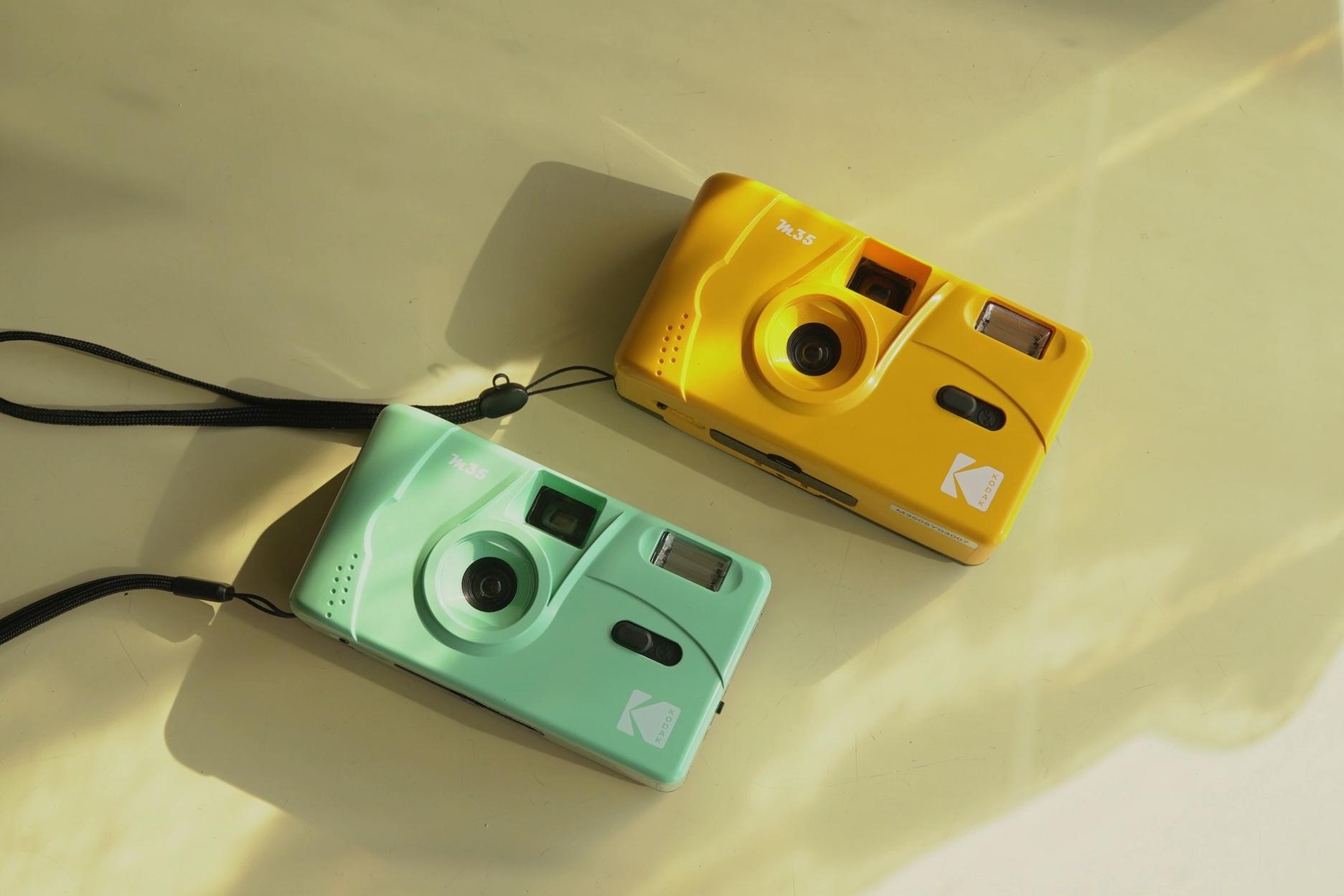 Kodak M35 mint green / yellow
