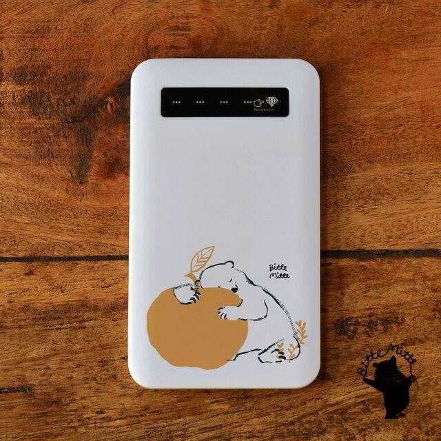 モバイルバッテリー*りんご