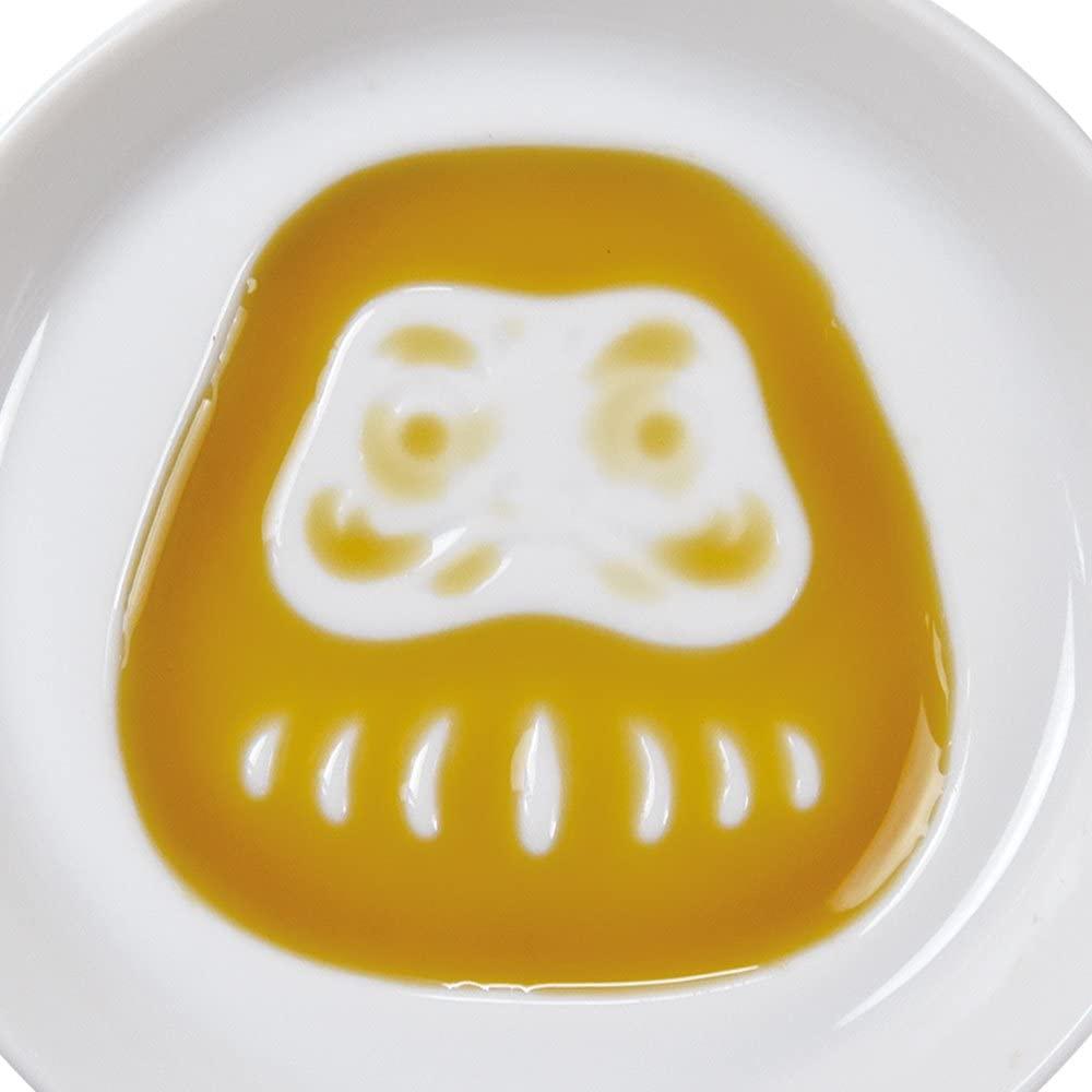 絵柄が浮き出る醤油皿 だるま