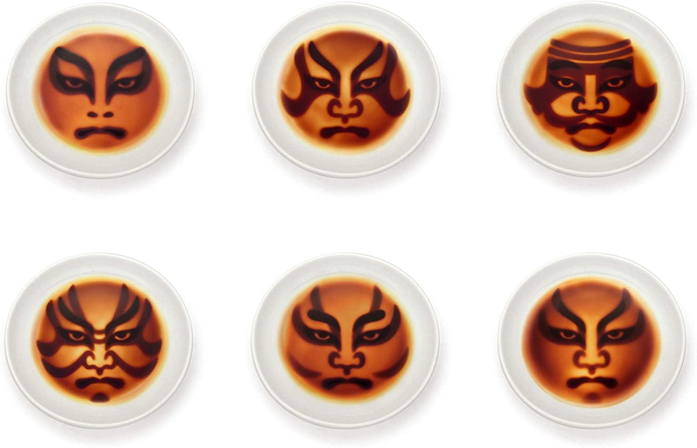 歌舞伎 醤油皿 6枚セット
