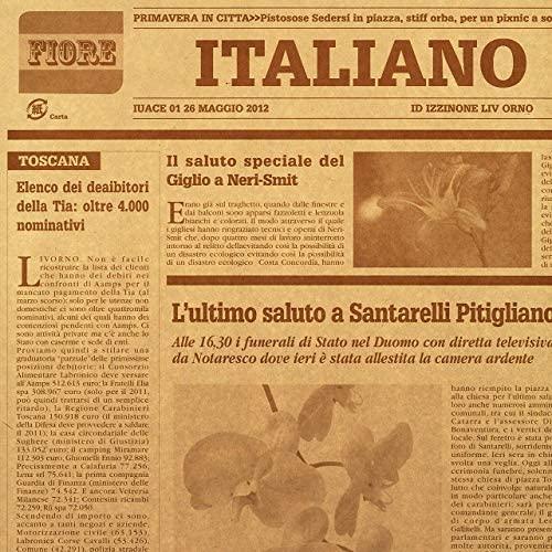 イタリア新聞紙柄 包装紙