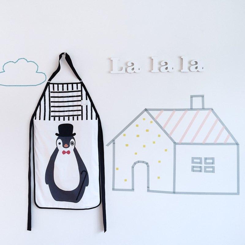 Penguin loves walking handmade apron