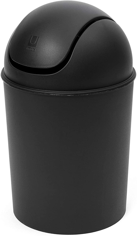 ふた付丸型ゴミ箱