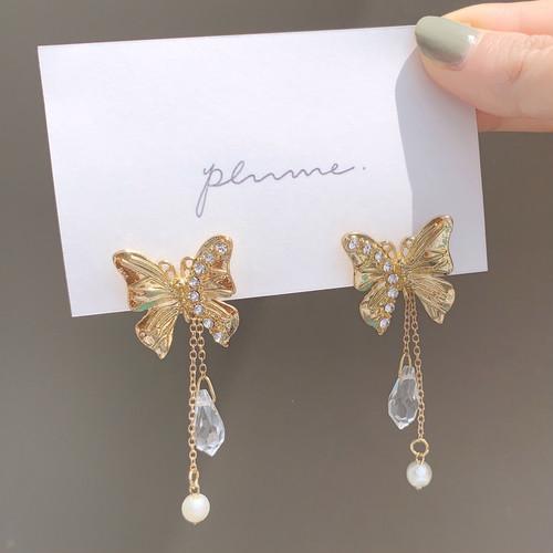 butterfly pierce/earring