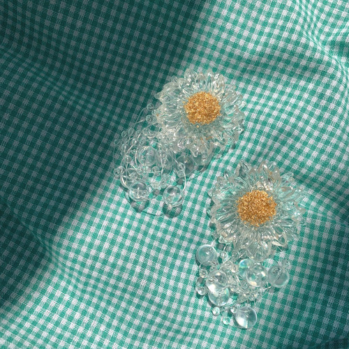 daisy peaul piece/earring