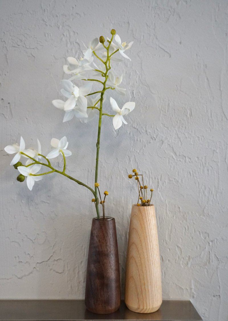 Handmade log tube plant