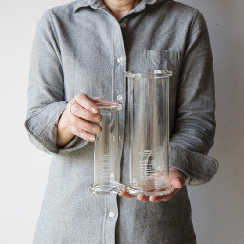 GLASS CYLINDER Small PUEBCO Cylindrical Glassware - Small