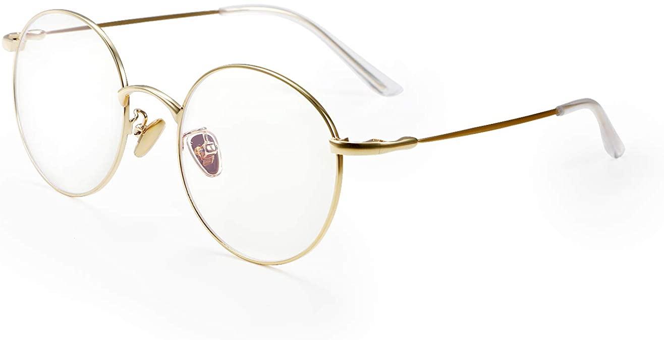 Aroncentメガネ ブルーライトカット 丸 PC眼鏡
