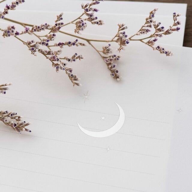 銀の月のレターセット