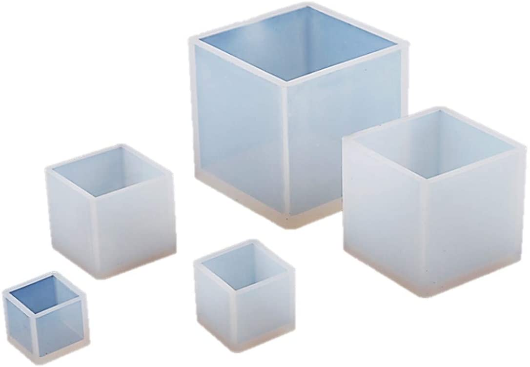 正方形シリコンモールド 5個セット