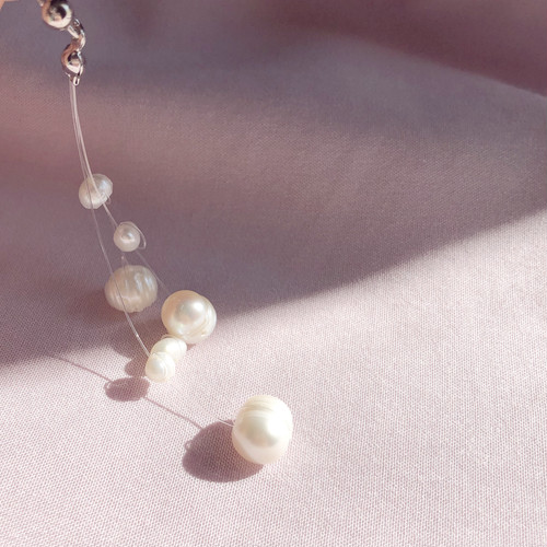 pearl loop pierce/earring