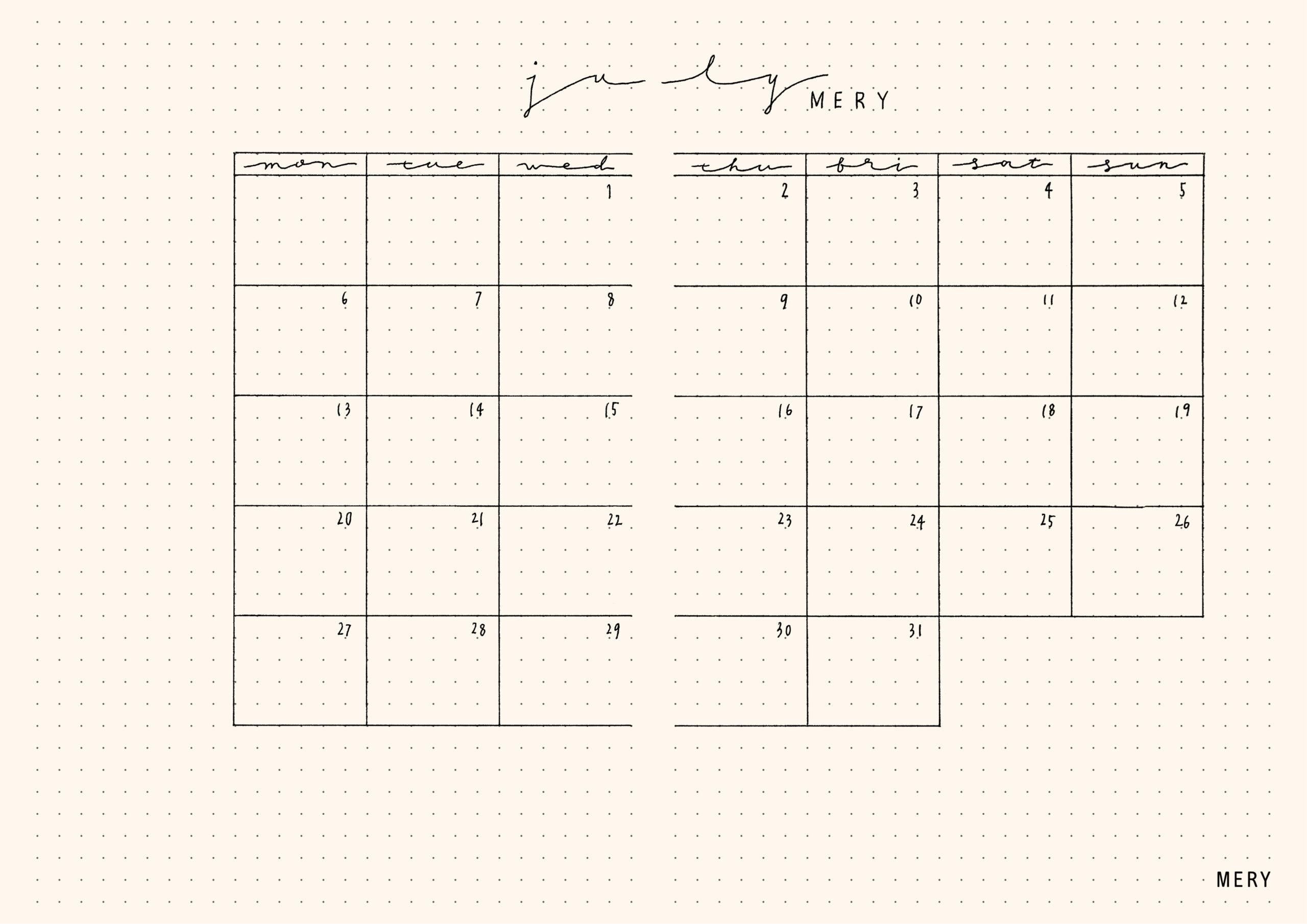 2. カレンダーページ