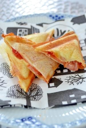 ハサミを使ってチョッキング~ホットサンドピザ風味☆