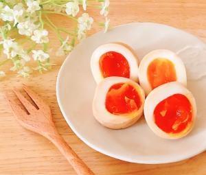 美味♥️1日でしっかり半熟煮卵✧˖°