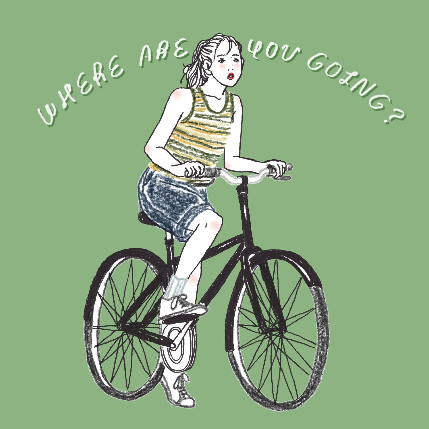 Q:あなたが自転車で行った場所はどこですか?