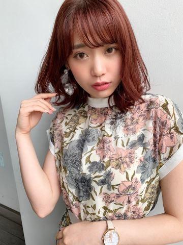 :pinkなヘアスタイル