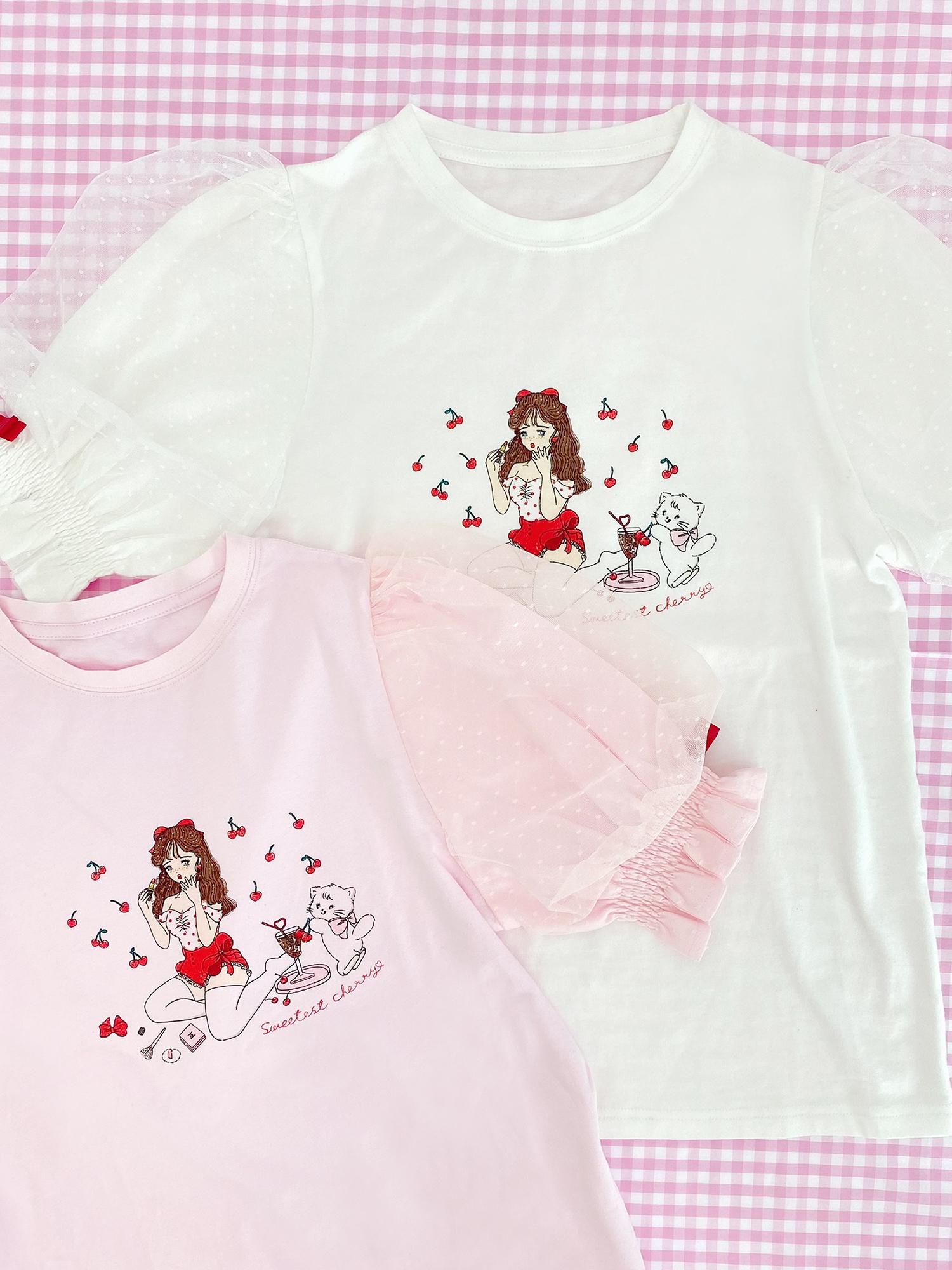 ♡sweetest cherry パフスリーブT / ¥6,490(税込)