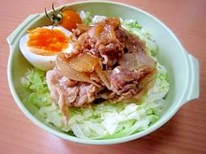 ランチde丼★生姜焼き丼弁当