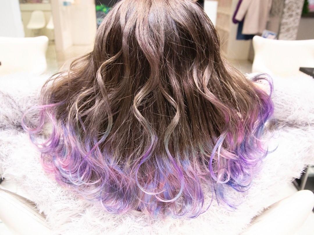 紫|髪色チェンジで私をアップグレード