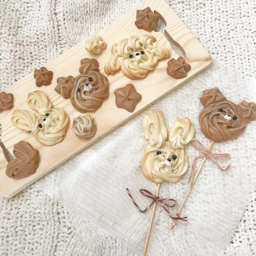 可愛い絞り出しクッキーを作ってみて
