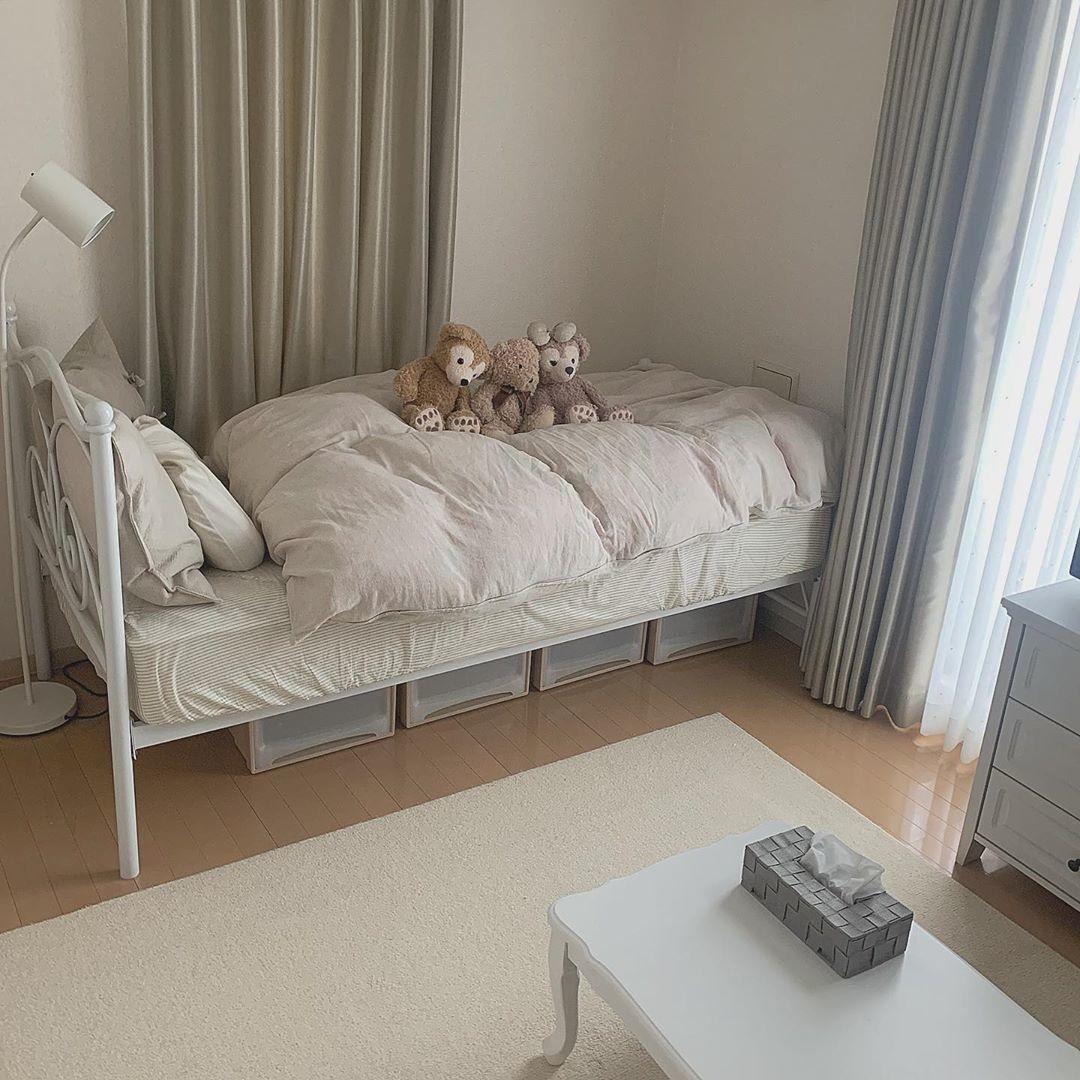 →収納が少ないお部屋は、ベッド下を活用