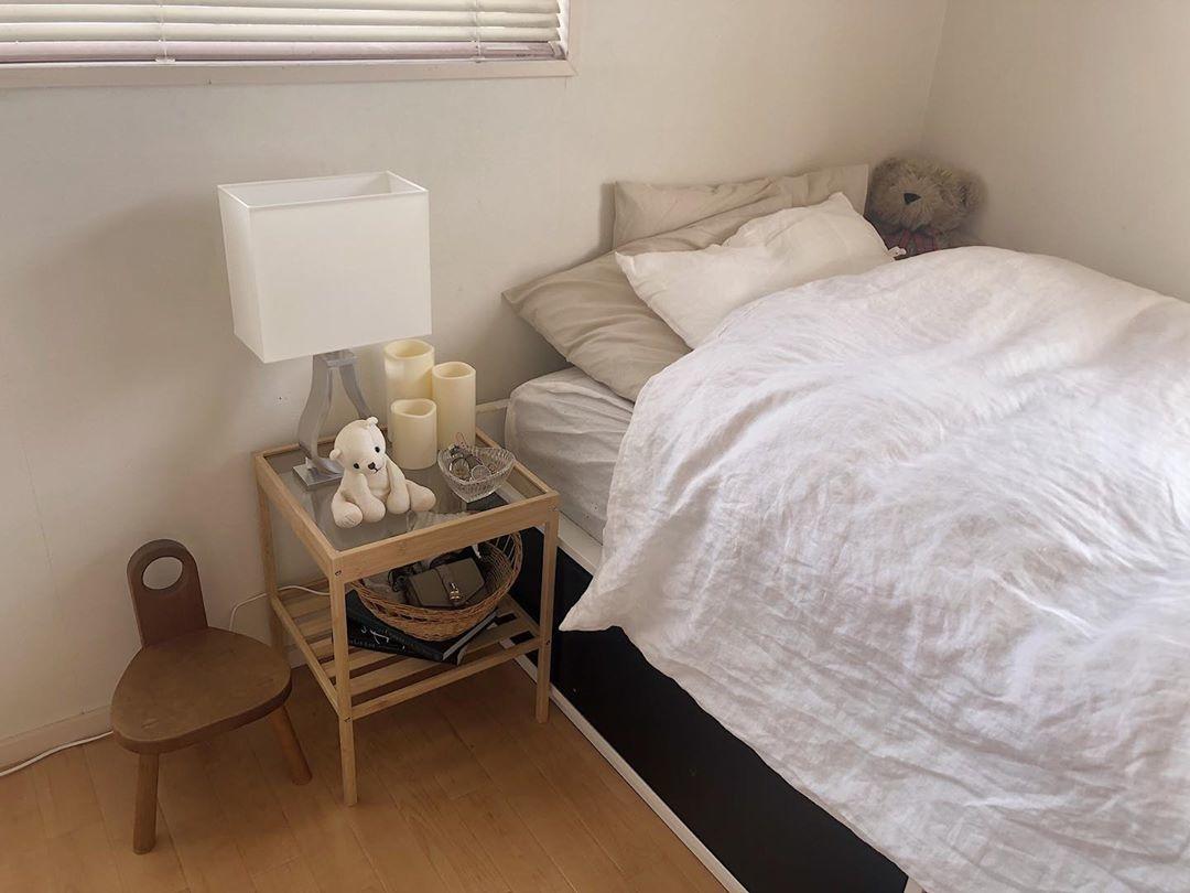 1▽寝具はホワイト系の一択にする