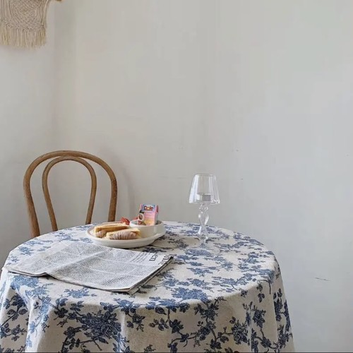vintage flower table cloth