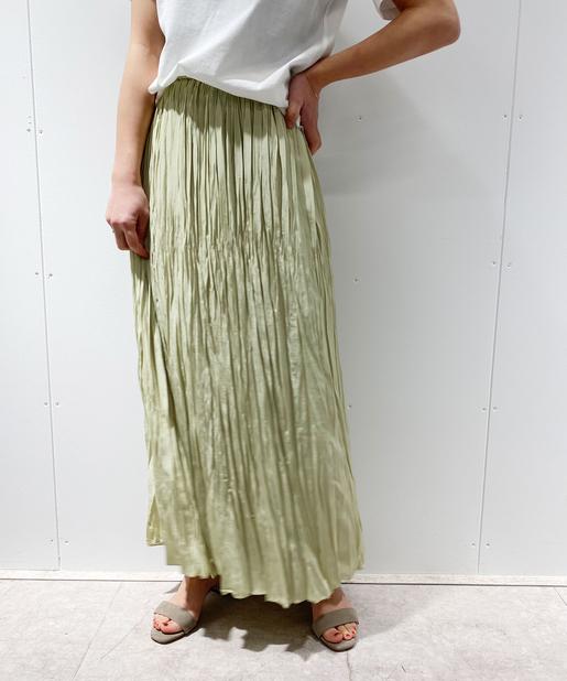 ヴィンテージクラッシュプリーツスカート