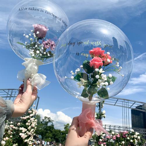 Bubble bouquet-candy roses-