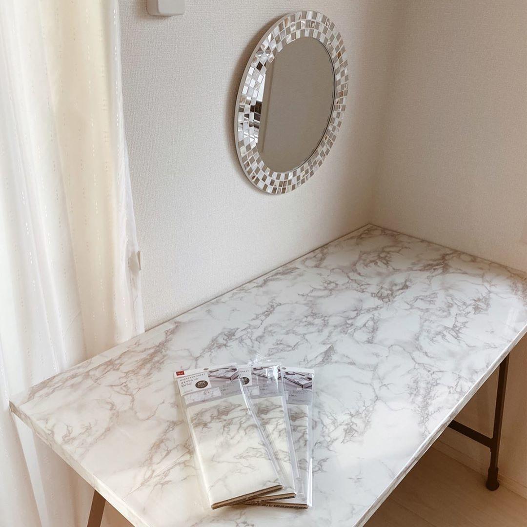 おしゃれROOMの秘密。#大理石シートをつかってお部屋のマンネリ化を解消しよう