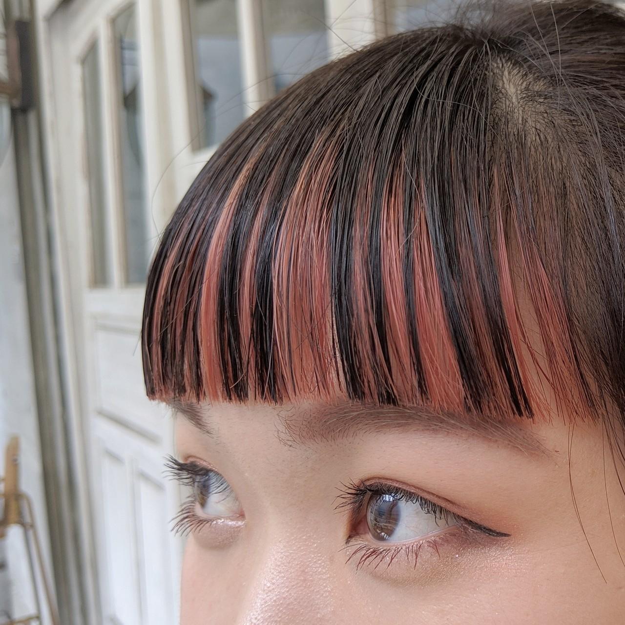3 前髪カラーで、軽くしつつ可愛さkeep