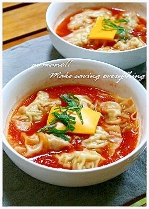 餃子のトマトスープ煮