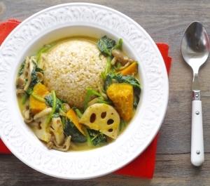 秋野菜の簡単グリーンベジカレー
