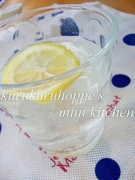 さっぱり☆はちみつレモンサイダー