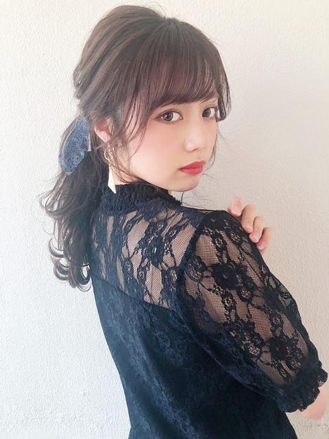 ☑︎暗髪×おくれ毛で色っぽく