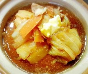 野菜を食べる! 味噌バタースープ☆