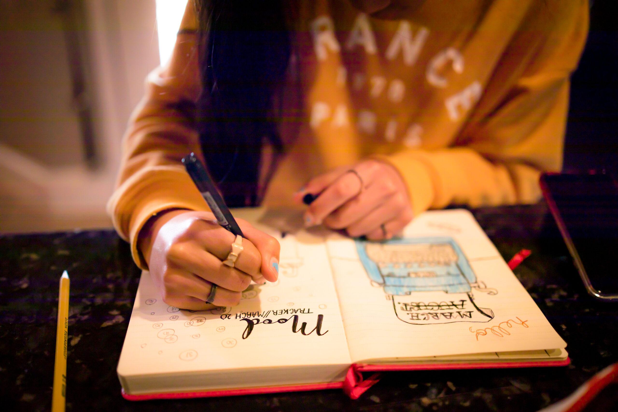 心に残った言葉や自分の考えを書き込む
