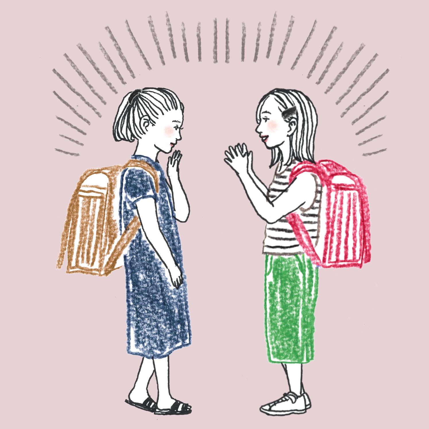 Q:小学生が何かの話をして盛り上がってます。何の話をしていますか?