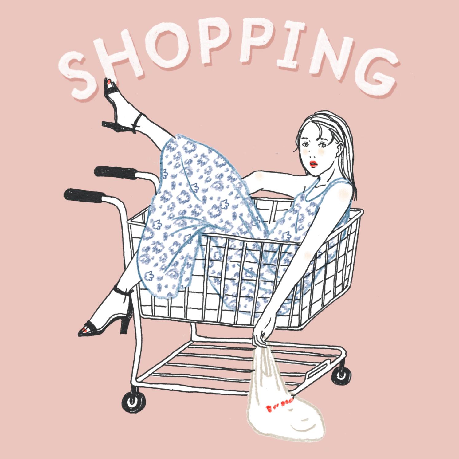 Q:スーパーに買い物に行ったあなた。お店の中で並んでいます。どの列に並んでいますか?