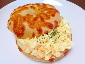 朝食に☆タルタル卵のベーグルサンド