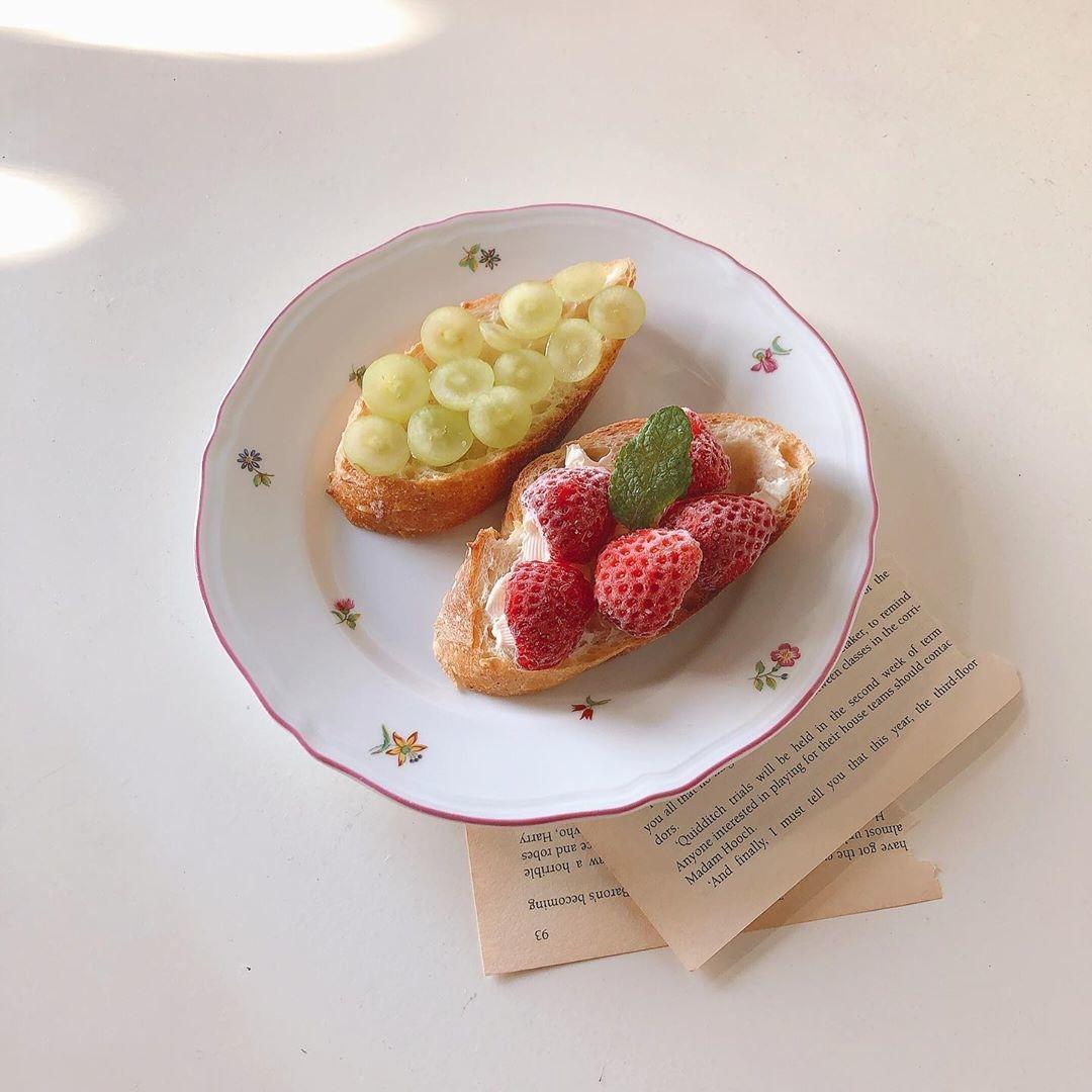 _優雅な休日の朝食を楽しむの