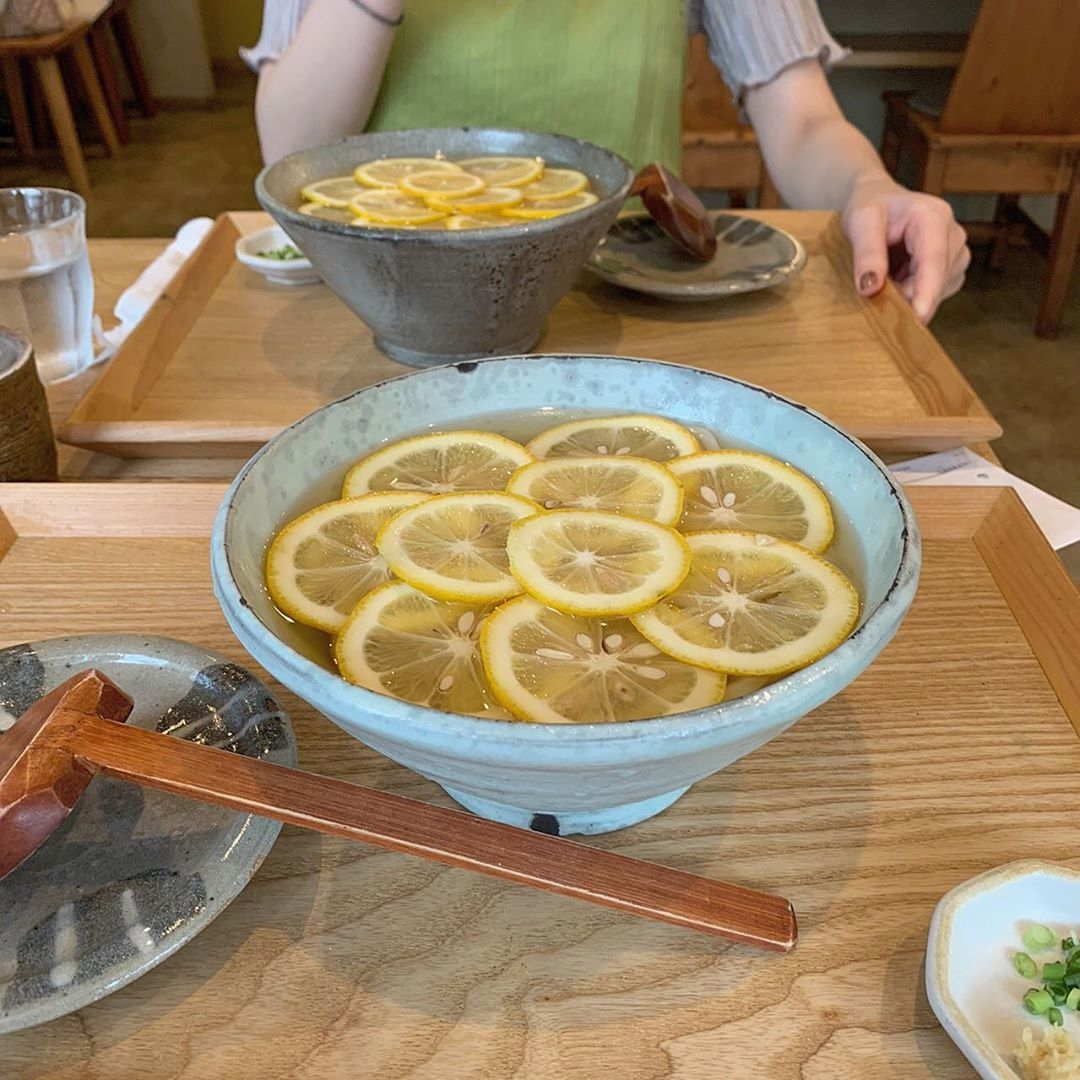 さっぱりレモンうどん「土麦」_川越