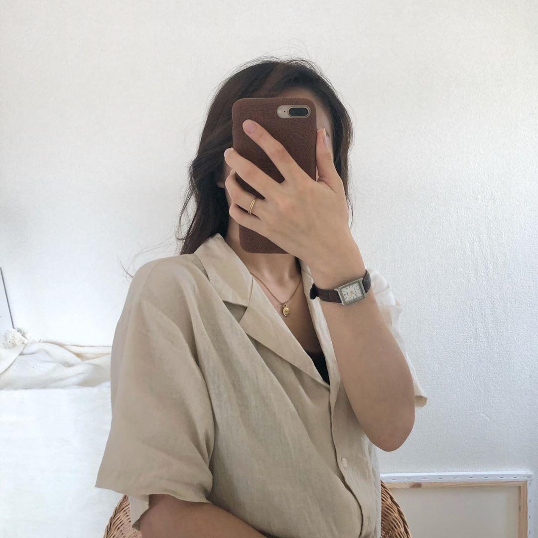 2|リネンブレンドオープンカラーシャツ(5分袖)