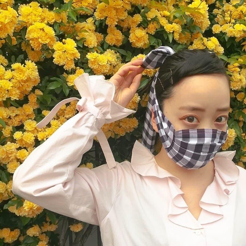 個性派マスクが流行の予感です