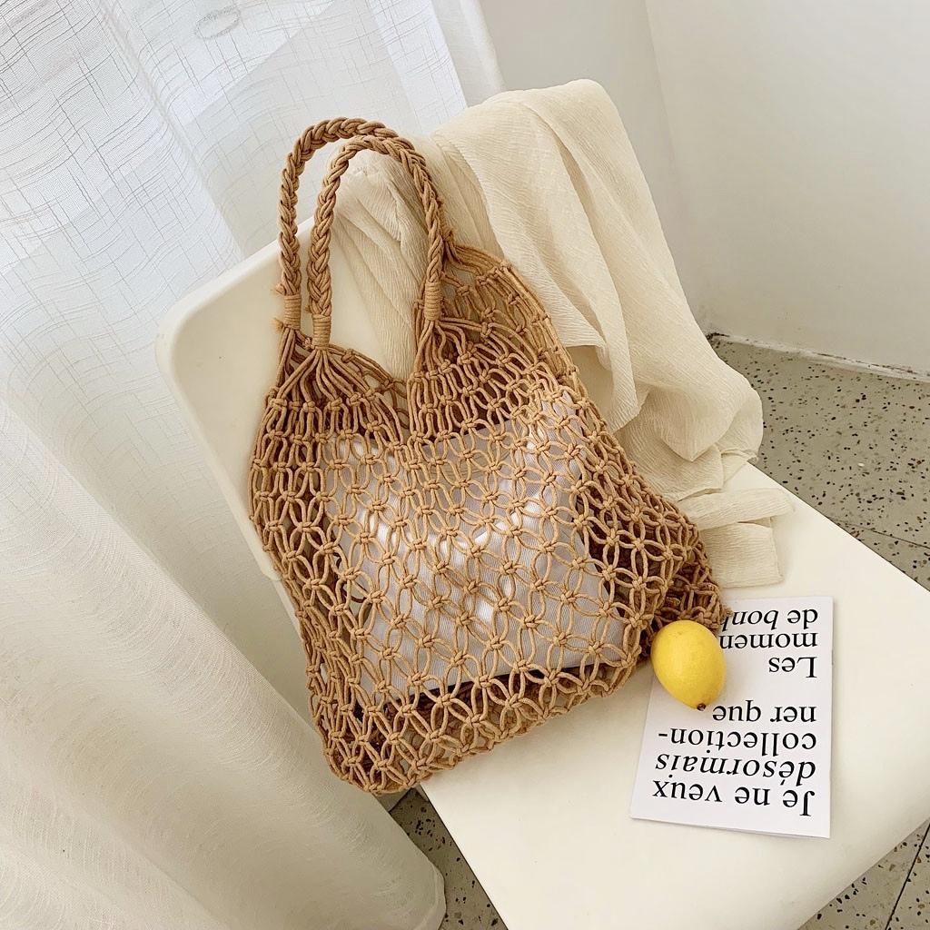 編みバッグ マクラメ サマーバッグ