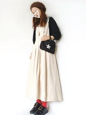 黒ワッフル×スカート