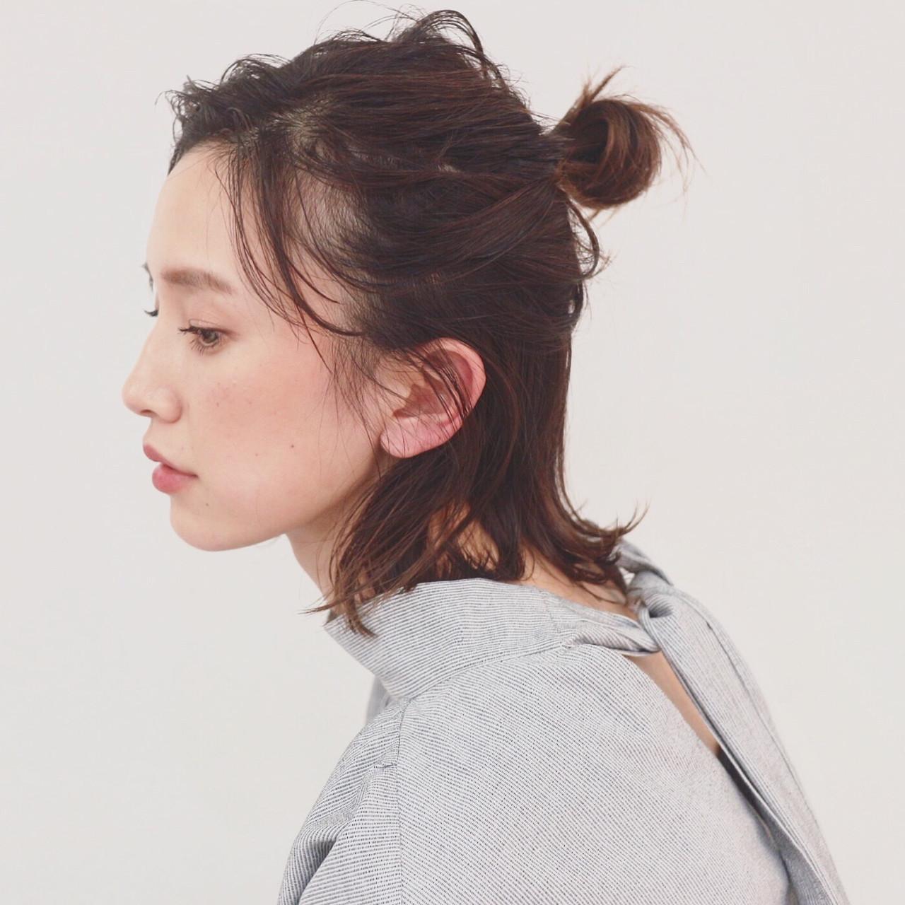 04|お団子×ハーフアップ