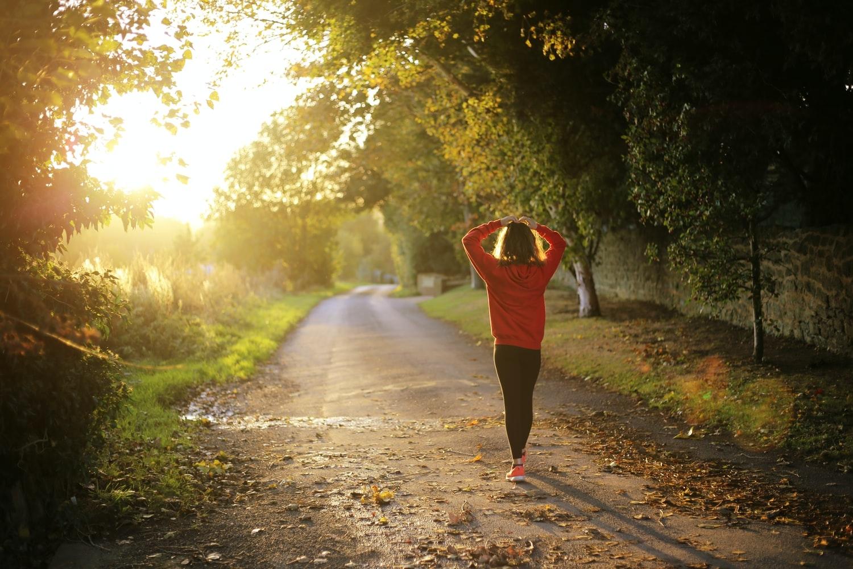 (1)朝は早めに起きて散歩をする